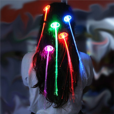 Newest swag myshowswag 12 led fiber optic hair extensions multicolor light up hair clips pmusecretfo Choice Image
