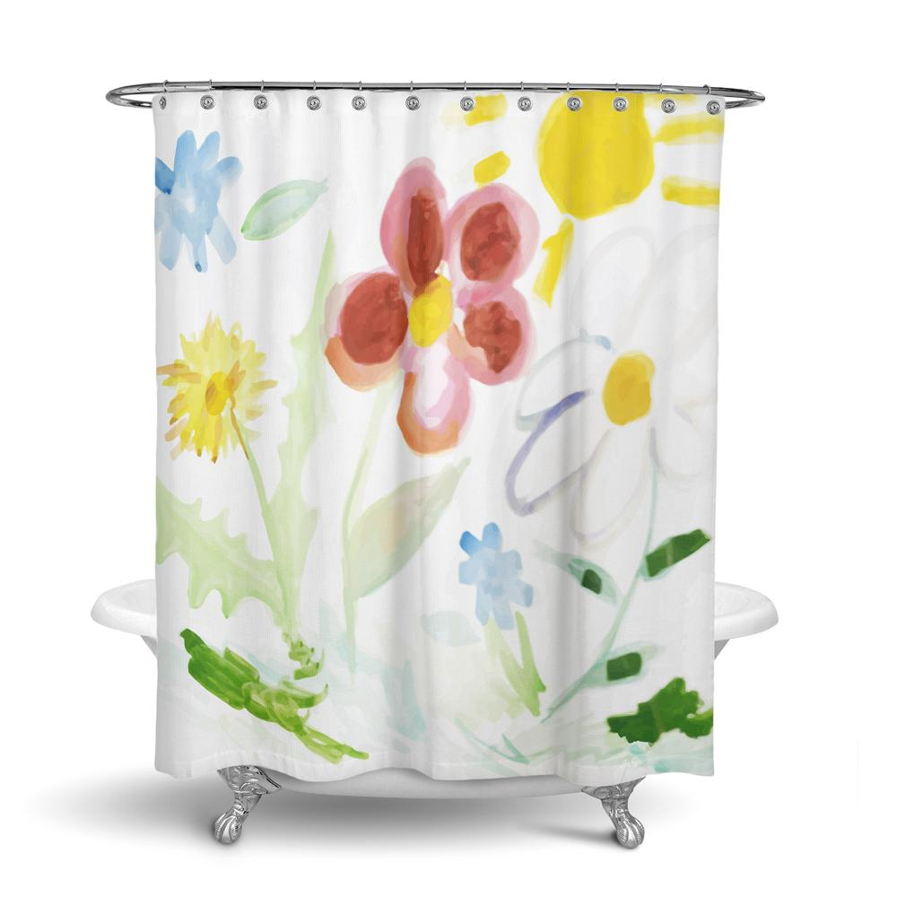 Custom Shower Curtain with artwork