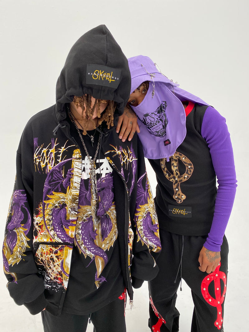 Twin Dragon Zip-Up Hoodie