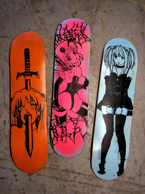 Wall hanging skateboards