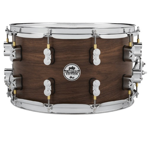 "DW PDP Limited Edition 20-Ply Maple/Walnut 8""x14"" Snare Drum"