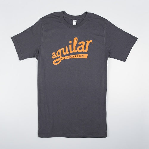 Aguilar Logo T-Shirt, Asphalt/Orange