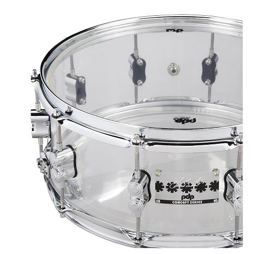 "DW PDP Chad Smith Signature Acrylic 6""x12"" Snare Drum"