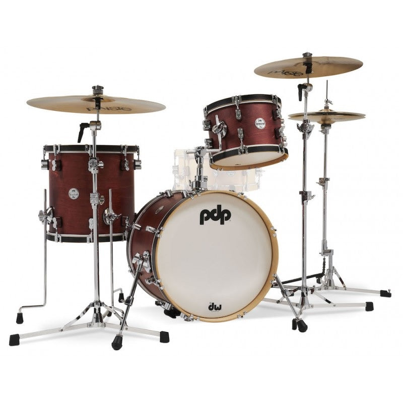 DW PDP Concept Maple Classic Shell Pack, 3-piece Bop Kit - Ox Blood Stain