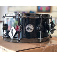 "DW USA Collector's All-Maple 5.5""x12"" Snare Drum, Lacquer Specialty Black Mirra, Black Nickel HW"