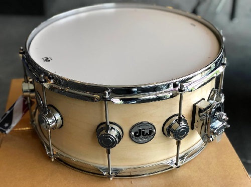 "DW USA Collector's Series All-Maple 6.5""x14"" Satin Oil Natural with Chrome Hardware"