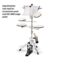 "DW ""Go Anywhere"" Practice Pad Kit with Stand"