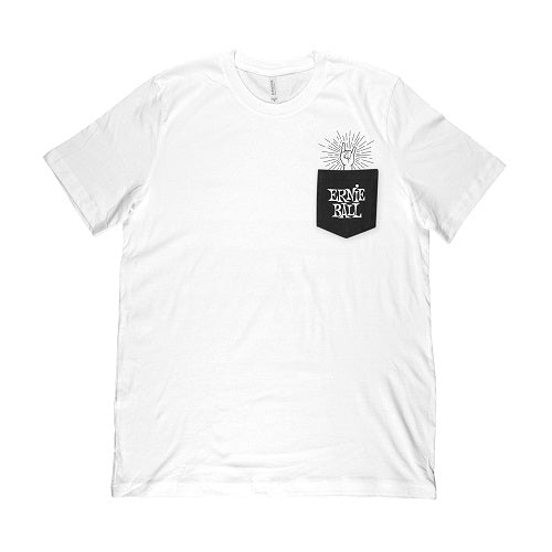 Ernie Ball Rock-On Pocket T-Shirt, White