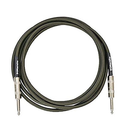 "DiMarzio EP1715 15-ft Overbraid Instrument Cable, Straight 1/4"" Ends"