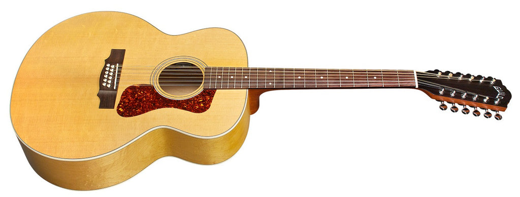 Guild F-2512E Maple 12-string Acoustic-Electric Guitar - Natural