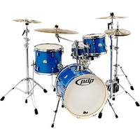 DW PDP New Yorker 4-pc Drum Kit with Hardware - Sapphire Sparkle