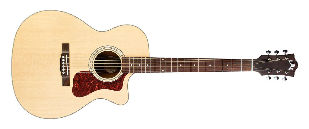 Guild OM-240CE Orchestra Cutaway Acoustic-Electric Guitar - Natural