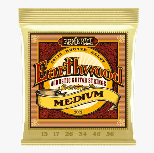 Ernie Ball Earthwood Medium 80/20 Bronze 13-56 Acoustic Guitar Strings