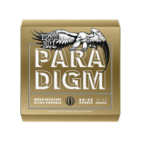 Ernie Ball Paradigm Extra Light 80/20 Bronze 10-50 Acoustic Guitar Strings