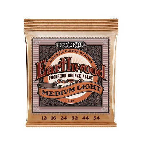 Ernie Ball Earthwood Medium Light Phosphor Bronze 12-54 Acoustic Guitar Strings