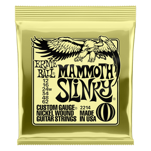 Ernie Ball Nickel Wound 12-62 Mammoth Slinky Electric Guitar Strings