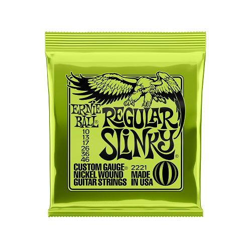Ernie Ball Nickel Wound Regular Slinky 10-46 Electric Guitar Strings: 12 Packs