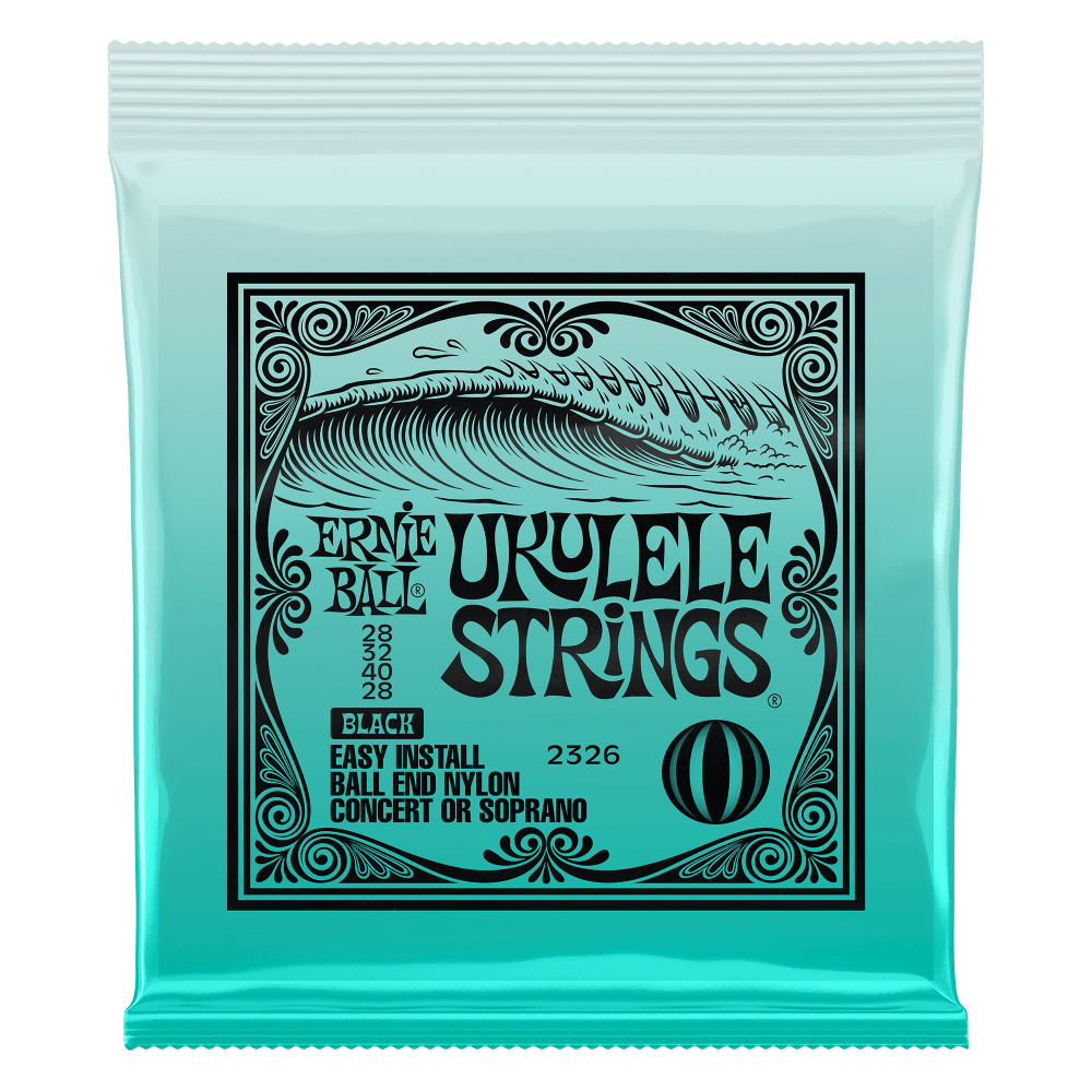 Ernie Ball Easy Install Black Nylon Ball End Ukulele Strings