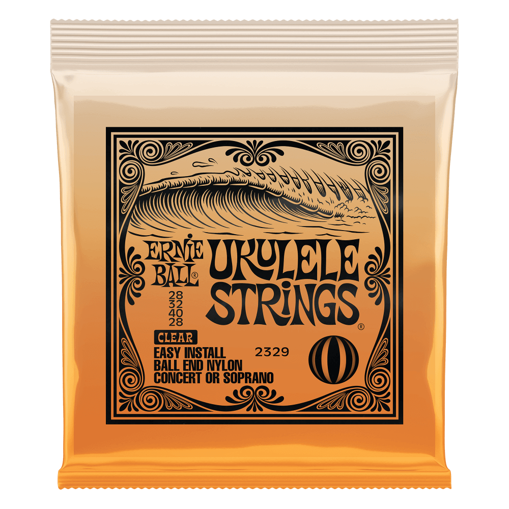 Ernie Ball Easy Install Clear Nylon Ball End Ukulele Strings