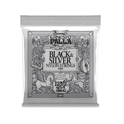 Ernie Ball Ernesto Palla Black & Silver 28-42 Nylon Classical Guitar Strings