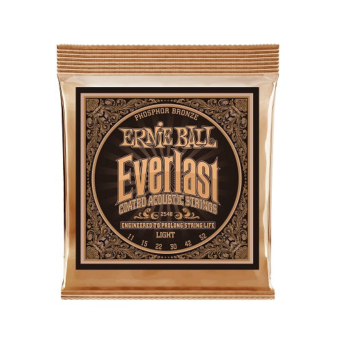 Ernie Ball Everlast Light Coated Phosphor Bronze 11-52 Acoustic Guitar Strings