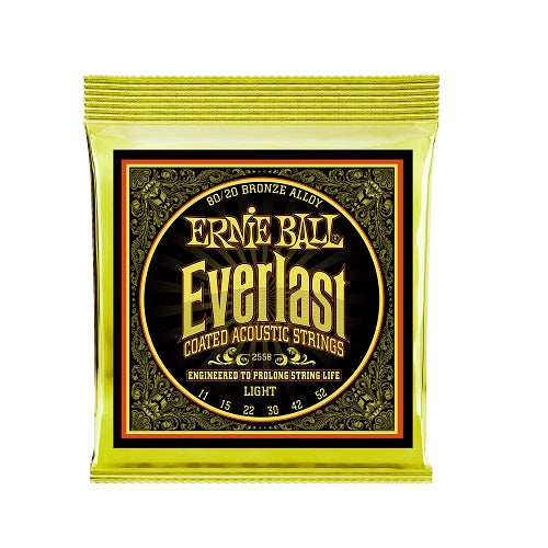 Ernie Ball Everlast Light 80/20 Bronze 11-52 Acoustic Guitar Strings