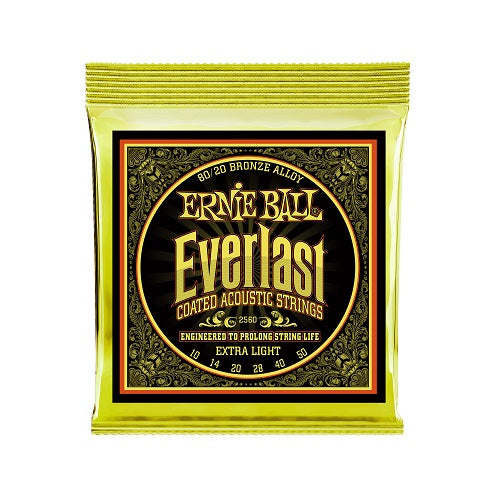 Ernie Ball Everlast Extra Light 80/20 Bronze 10-50 Acoustic Guitar Strings