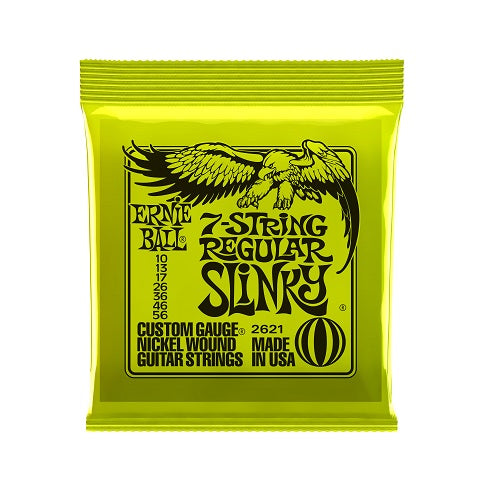 Ernie Ball Regular Slinky 7-String Nickel Wound 10-56 Electric Guitar Strings