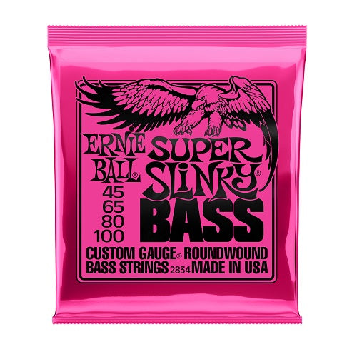 Ernie Ball Super Slinky Nickel Wound 45-100 Electric Bass Strings