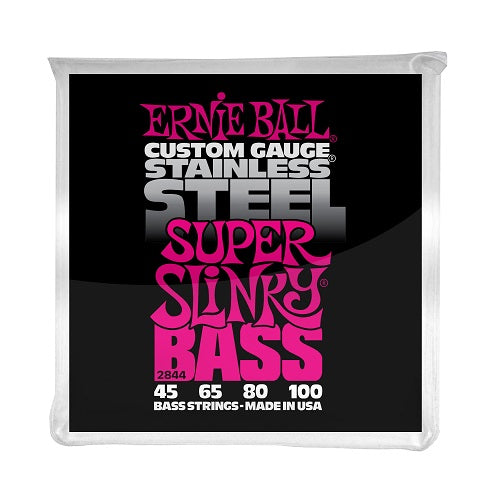 Ernie Ball Super Slinky Stainless Steel 45-100 Electric Bass Strings