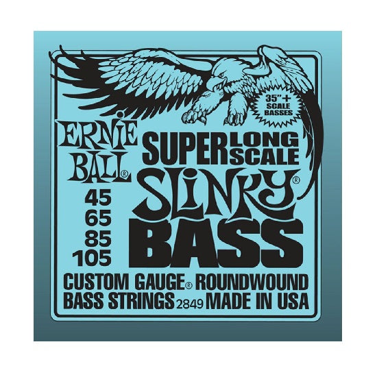 Ernie Ball Slinky Super Long Scale Nickel Wound 45-105 Electric Bass Strings