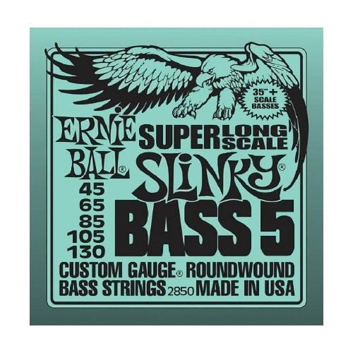 Ernie Ball Slinky Super Long Scale Nickel Wound 5-String 45-130 Electric Bass Strings