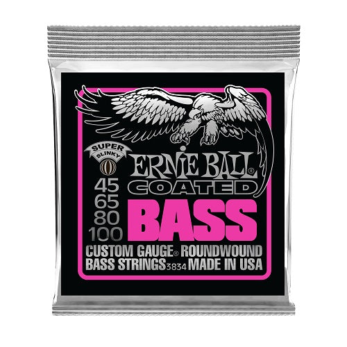 Ernie Ball Super Slinky Coated 45-100 Electric Bass Strings