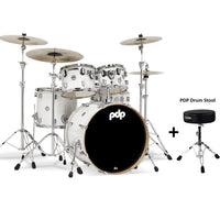 DW PDP Concept Maple 5-pc Drum Kit with Hardware - Pearlescent White