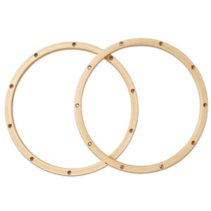 "DW PDP 20-Ply 14"" 10-Lugs Maple Wood Hoops for Snare Drum, One-Pair"