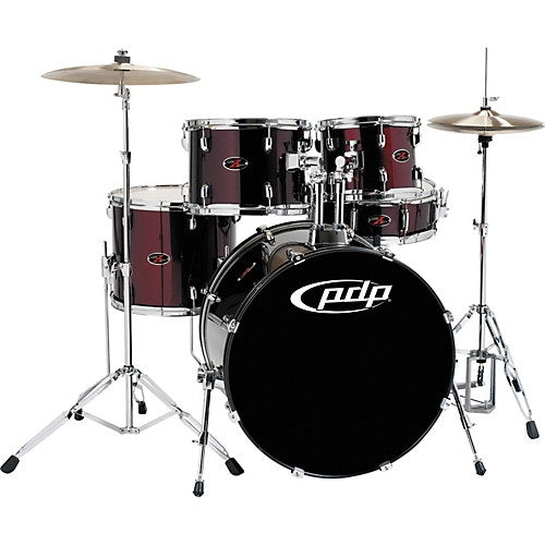 DW PDP Z5 5-pc Drum Kit with Hardware, Stool & Cymbals