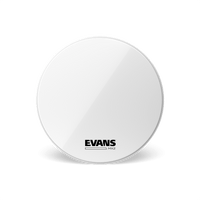 "Evans MX2W 18"" Marching Bass Drumhead, White"
