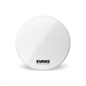 "Evans MX2W 16"" Marching Bass Drumhead, White"