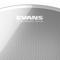 "Evans System Blue 13"" Marching Tenor Drumhead"