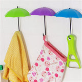 6Pcs/lot Umbrella Shape Wall Door Hook Hanger