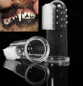 Pet Dog Cat Soft Finger Toothbrush