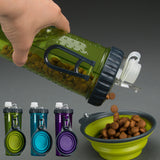 Pet Outdoor Portable Feeder Travel Bowl Dish  Bottle Water Bowls