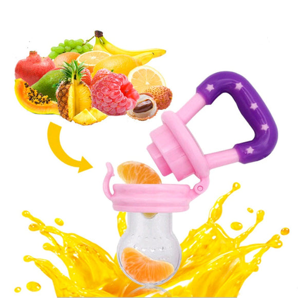 1PC Baby Fruit Food Bite Silicone Teethers