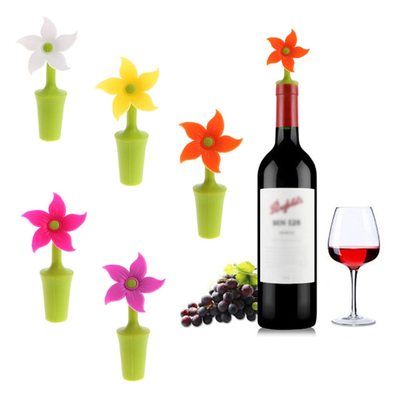 Flower Shape Silicone Wine Stopper