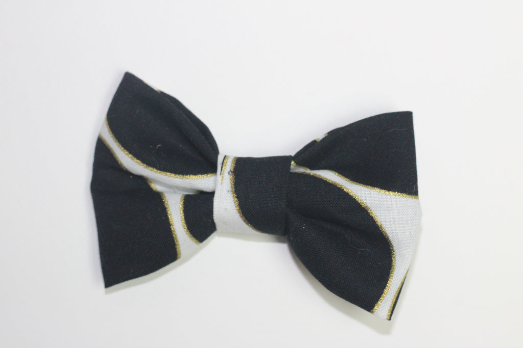 Black and Gold Bow