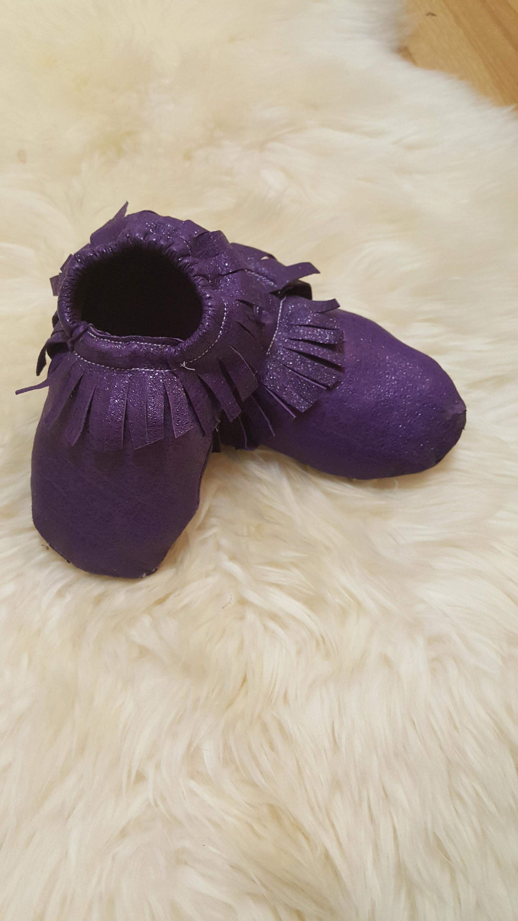 3-6 Months Only Grace Leather Moccasins