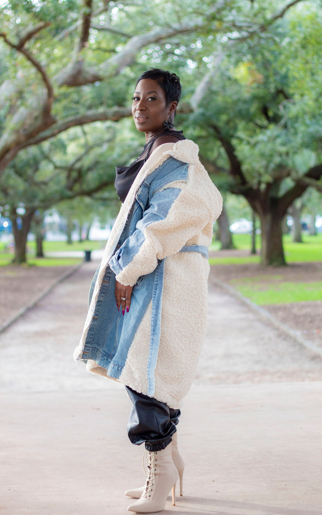 Mix It Up Denim Coat