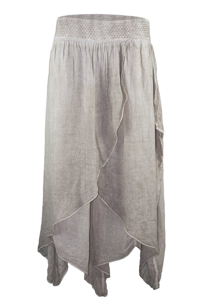 garment dyed beige authentic baggy pant bottoms ipekci
