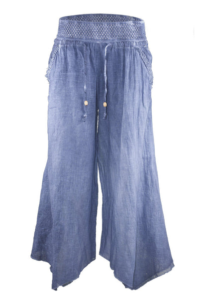 garment dyed denim look casual baggy pant bottoms ipekci