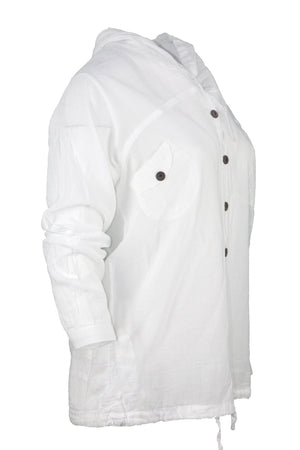 ipekci  white casual shirt with hood top breakmood-2.myshopify.com